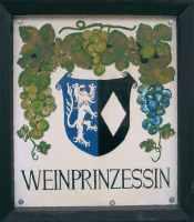Schild Weinprinzessin